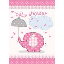 amazon com pink elephant baby shower invitations toys u0026 games