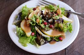 Good Salad For Thanksgiving Autumn Pear Salad With Maple Balsamic Dressing Recipe Maple