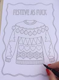this foul mouthed holiday coloring book is everything you need