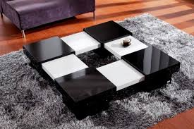 Center Table For Living Room Black And White Modern Folded Coffee Table Wood Center Table