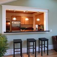 passe plat cuisine salon cuisine gris perle photo 3 4 vue travers le passe plat du salon