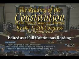 The Constitution Made No Mention Of A Presidential Cabinet Congress Reads The Constitution Edited Continuous Full Reading
