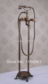 bathroom antique floor stand faucet telephone type bath shower
