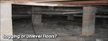 sagging and uneven floor repair