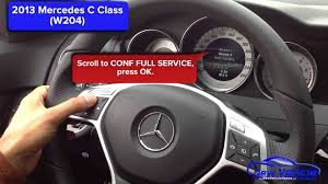 2013 mercedes c300 oil light reset service light reset youtube