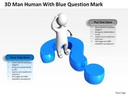 business development process flowchart 3d man human with blue