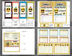 emoji printable birthday supplies emoticon smiley happy face