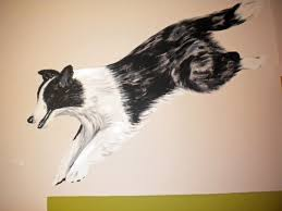 it s a dogs life charlottedesignsuk s blog charlotte designs dog mural dog wall painting collie mural border collie painting