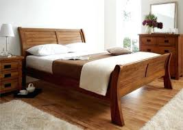 solid wood sleigh bed frame wooden sleigh bed frame queen view in