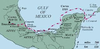 aztec map of mexico hernan cortez s route to the aztec capital is better than