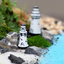 mini lighthouse gardening ornaments resin crafts figurine home