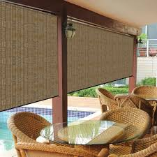 amazon com coolaroo exterior roller shade 10 by 8 feet pebble