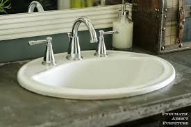 Overmount Bathroom Sink Pneumatic Addict Diy Concrete Countertop With Sink Openings