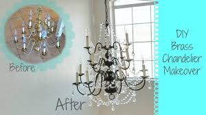Upside Down Crystal Chandelier Diy Brass Chandelier Makeover Youtube