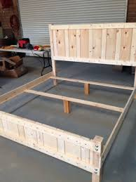 King Size Platform Bed Diy by Best 25 Diy King Bed Frame Ideas On Pinterest King Bed Frame