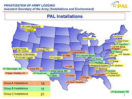 map us army bases pal locations and condition assesments privatized army lodging