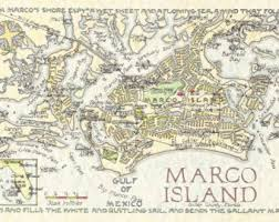 Marcos Island Florida Map Gulf Of Mexico Map Of Marco Island Florida Watercolor