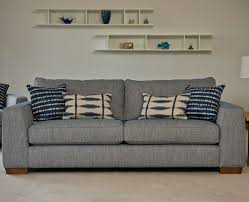 Hepburn Twoseater Sofa With Two Scatter Cushions And One Bolsters - Sofa bolster cushions