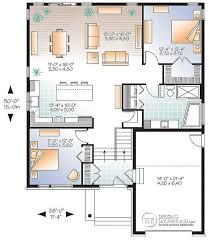 plan plain pied 2 chambres plan de rez de chaussée plain pied moderne rustique entrée split