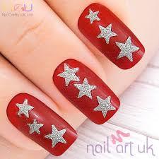 British Flag Nails Star Adhesive Nail Stickers Nail Art Uk