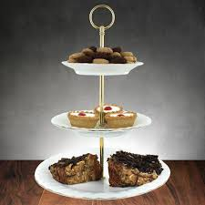 tiered cake stands a gold touch porcelain 3 tier cake stand