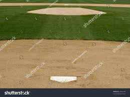 infield view baseball field home plate stock photo 25862740