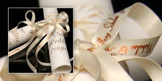 personalized wedding programs personalized ribbon for wedding programs