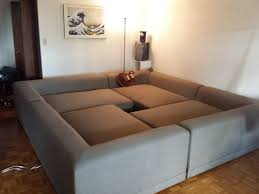 awesome couches this is amazing the only entrance appears to be that hole in the
