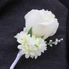wedding flowers groom aliexpress buy weddingbobdiy boutonniere ivory groom