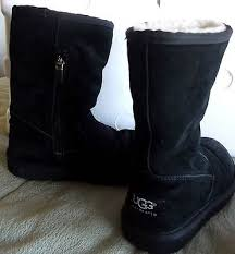 ugg boots in womens size 12 ugg boots size 12 suede boots black sheep skin lining side zipper 25775d364b3fc9f907429a6b8438cfdb jpg