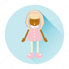Pink Flat Color Flat Cartoon Illustration For Icon Logo Design Kawaii Tanned