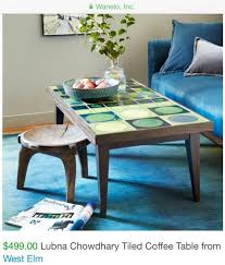 lubna chowdhary for west elm tiled coffee table in lower east