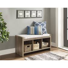 entryway storage bench with cushion progressive