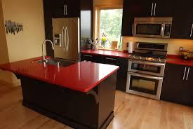 red kitchen countertop ideas 8846 baytownkitchen great idea of red kitchen countertops with brown floor