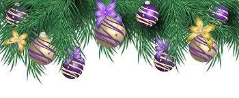purple christmas clipart clipartxtras