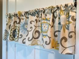 Curtains With Pom Poms Decor Waverly Home Decor Brown Blue Yellow Pom Pom Curtain Valance 54