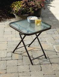 Glass Patio Furniture by Garden Oasis Harrison Matching Folding Side Table Limited