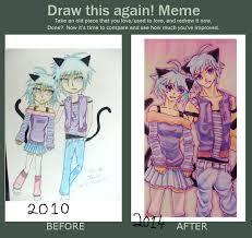 Meme And Neko - draw this again meme cute neko twins by tara8000 on deviantart