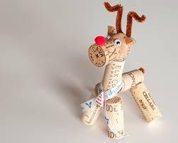 wine cork reindeer rudolph ornament gift wine cork