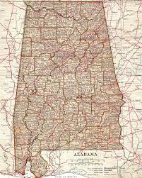 Map Alabama Antique Images September 2015