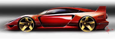 futuristic sports cars classic ferraris served as inspiration for these futuristic designs
