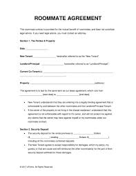 free roommate agreement template commercial lease agreement template 791x1024 sample rental va for