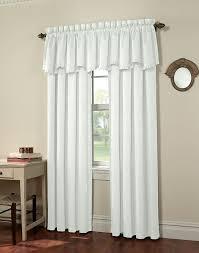 White Window Valance Abella Pleated Scallop Window Valance Curtainworks Com