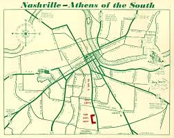 Tennessee City Map by Map Of Nashville U2013 Athens Of The South Featuring The York Hotel