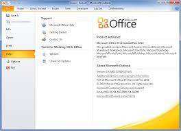 Microsoft Office Outlook Help Desk How To Check The Service Pack Level In Office 2010 Msoutlook Info