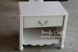 doodlecraft short scalloped nightstand redo