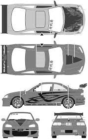 car blueprints honda civic blueprints vector drawings clipart