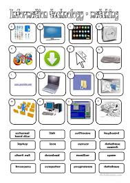 i t information technology worksheet free esl printable