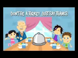 don t be a turkey just say thanks thanksgiving song for