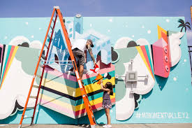 3d mural artist alex yanes on his 3d mural for monument valley 2 s release